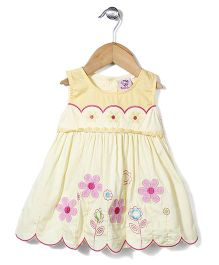 Smile Rabbit Stylish Floral Dress - Yellow