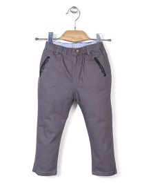 Minikid House Long Pants With Elastic Waist - Dark Grey