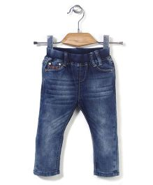 MInikid House Elastic Waist Jeans - Blue
