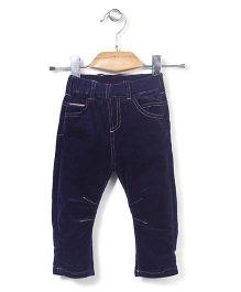Minikid House Stylish Long Pants With Elastic Waist - Navy Blue