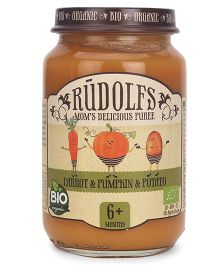 Rudolfs Organic Moms Delicious Vegetable Puree Carrot Pumpkin Potato - 190 gm
