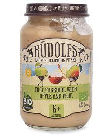 Rudolfs Organic Porridge Rice With Apple & Pear - 190 gm