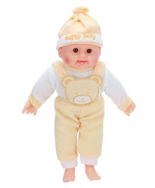 Tickles Laughing Baby Doll Yellow And White - 14 Inches