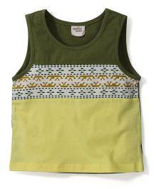 Petit Cucu Sleeveless Vest - Yellow & Green