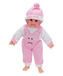 Tickles Laughing Baby Doll Kitty Design Pink And White - 36 cm