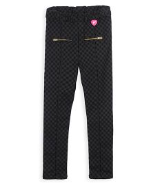Barbie Slim Fit Check Jeggings - Black