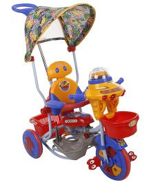 Mee Mee Kitty Tricycle With Push Handle And Basket BT-890 A - Red