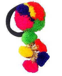 D'chica Pom Pom Rubber Band - Multicolour
