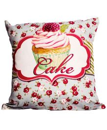 Little Nests Cake Print Cushion Cover