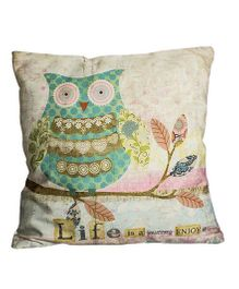 Little Nests Undercover Owl Cushion Cover - Green