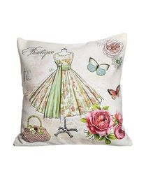 Little Nests Pink Pirouette Cushion Cover - White