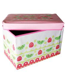 Little Nests Berry Storage Box - Pink And White