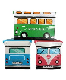 Little Nest Mini Bus Storage Box - 3 Assorted Colors