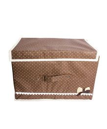 Little Nests Fabric Bow Storage Box - Brown