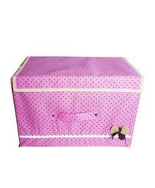 Little Nests Fabric Bow Storage Box - Pink