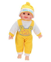 Tickles Laughing Baby Doll Yellow And White - 13 Inches