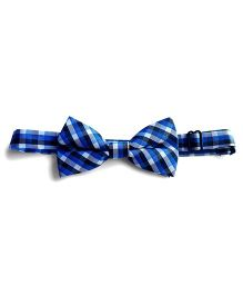 Milonee Plaid Bow Tie - Blue Black & White
