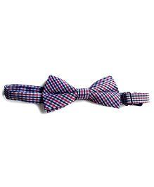 Milonee Plaid Bow Tie - Pink & Black