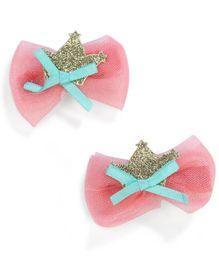 Stol'n Designer Bow Shaped Hair Clip - Dark Peach