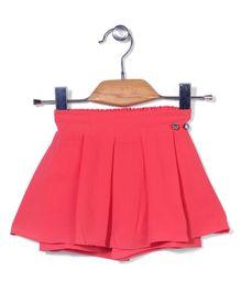 Tiny Girl Pleated Skirt - Peach