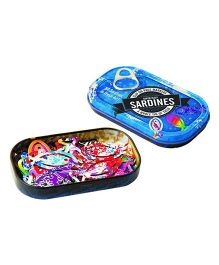 Mufubu Tin of Sardines Steel Clips - Multicolor