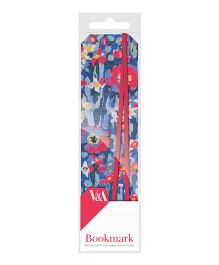 Mufubu V And A Bookmarks Dress Fabric - Red And Blue