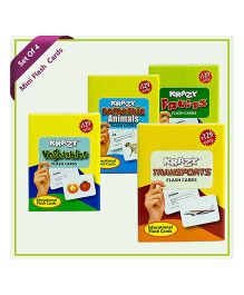 Krazy Combo Mini  Flash Cards Set of 4 - Multi Color