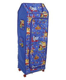 Kids Zone Puppy Print Almirah - Blue
