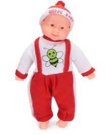 Kids Zone Laughing Doll Red - Height 43 cm
