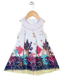 Dazzle Kid Tree Print Dress - White