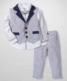 Elite Fashion Smart Suit Set - Grey & Navy