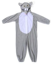 Gifts World Hooded Jumpsuit Style Elephant Costume - Grey