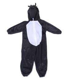 Gifts World Hooded Jumpsuit Style Horse Costume - Black