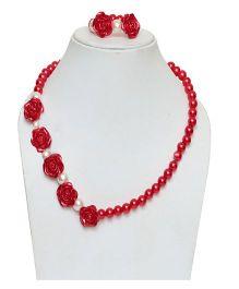 D'Chica Necklace & Bracelet Set - Pink