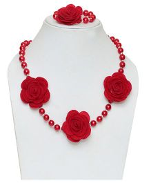 D'Chica Necklace & Bracelet Set - Pink