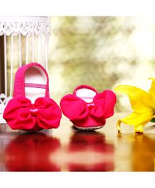 D'chica Shoes Ribbon & Bow Shoes - Pink