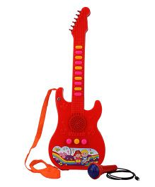Prasid Musical Guitar Toy With Mic - Red