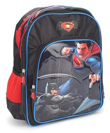 DC Comics Mighty Battle School Backpack Black - 16 inches
