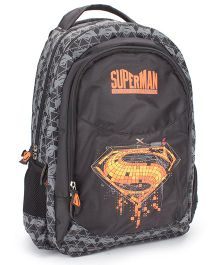 DC Comics SuperMan Teens Super Shield School Backpack Black - 18 inches