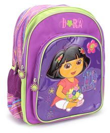 Dora Flower Bouquet Backpack Purple - 16 inches