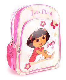 Dora Bloom Lets Play Backpack Pink & White - 18 inches