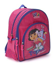 Dora the Explorer Backpack Tropical Adventure Print - 14 Inches