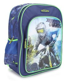 Majorette Flying Wheels School Backpack Blue - 18 inches