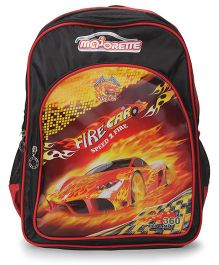 Majorette Fire Car Back Pack Red And Black - 16 Inches