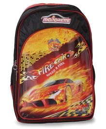 Majorette Fire Car Back Pack Red And Black - 18 Inches