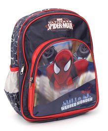 Marvel Spiderman Backpack Navy Blue - 14 inches