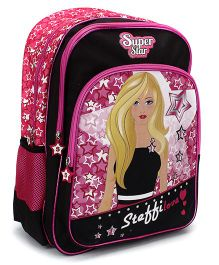 Steffi Love Super Star School Backpack Black & Pink - 18 inches