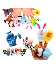 Kuhu Creation Animal Parents Multicolor - Set Of 20 Pieces