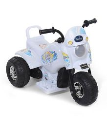 Babyhug Cute Rider Rechargeable Battery Operated Rideon - White