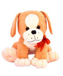DealBindaas Stuffed Puppy Brown - 25 cm